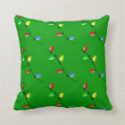 Colourful Christmas Tree Bulb Lights Custom Cushion