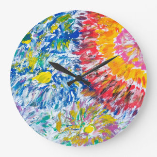 Colourful Chrysanthemums Wall Clock