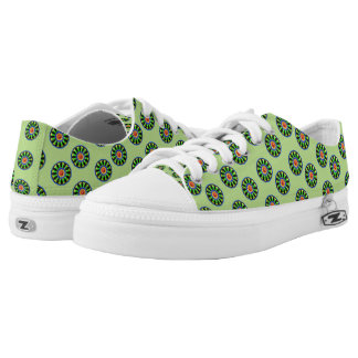 Colourful circle kaleidoscope pattern low tops