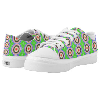 Colourful circle pattern printed shoes