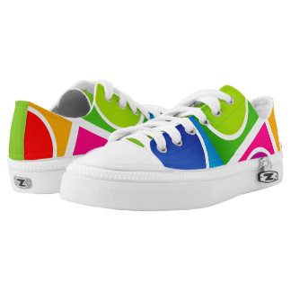 Colourful Circles and Squares Pattern1 Low Tops