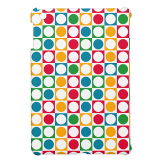 Colourful Circles & Squares Pattern iPad Mini Case