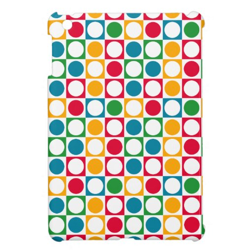 Colourful Circles & Squares Pattern Cover For The iPad Mini