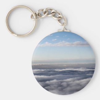 Colourful Clouds from an aeroplane Basic Round Button Keychain