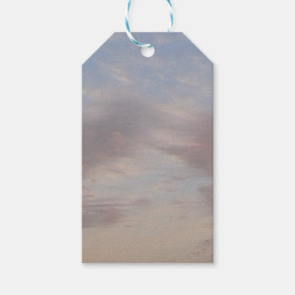 Colourful clouds gift tags
