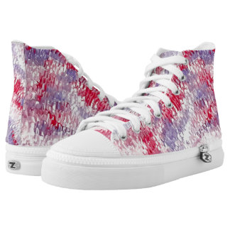 colourful clouds Zipz High Top Shoes