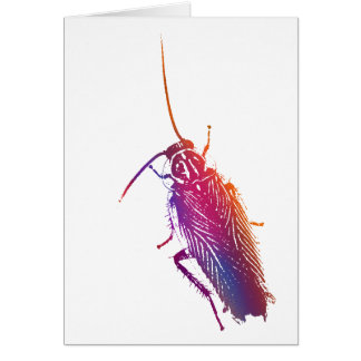 Colourful Cockroach Greeting Card
