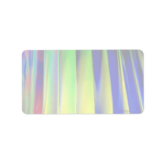 Colourful Coloured louvers Address Label