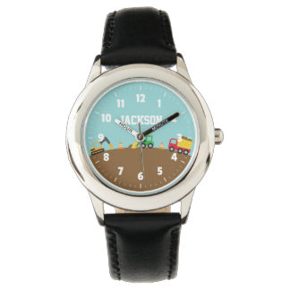 Colourful Construction Vehicles Kids Watch