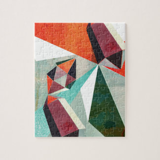 Colourful contemporary playful geometrics jigsaw puzzle