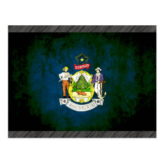 Colourful Contrast Mainer Flag Postcard