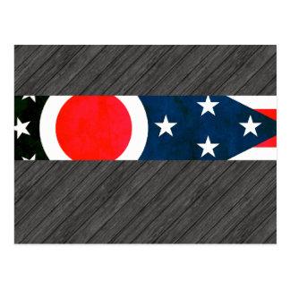 Colourful Contrast Ohio Flag Postcard