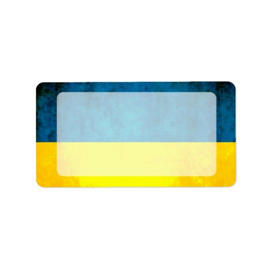 Colourful Contrast UkrainianFlag Address Label