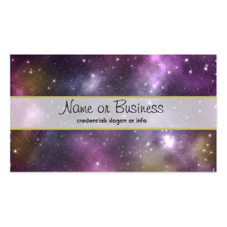 Colourful Cool Nebula and Stars in Space Pack Of Standard Business Cards