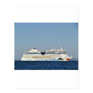 Colourful Cruise Ship Postcard