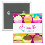 Colourful Cupcakes Name Badge