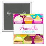 Colourful Cupcakes Name Badge