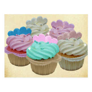 Colourful Cupcakes Postcard