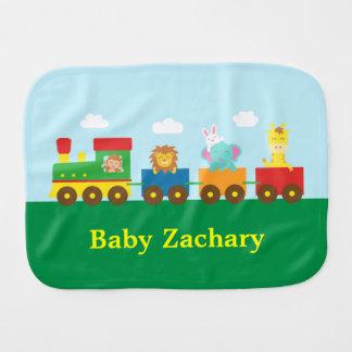 Colourful Cute Animals Train for Babies Burp Cloth
