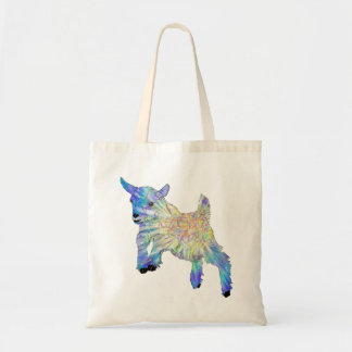Colourful Cute Baby Goat Jumping Funny Animal Art Tote Bag