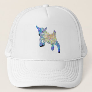 Colourful Cute Baby Goat Jumping Funny Animal Art Trucker Hat