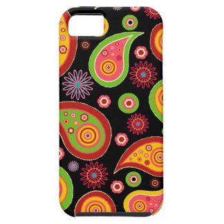 colourful cute paisley pattern fun background cover for iPhone 5/5S