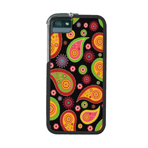 colourful cute paisley pattern fun background cover for iPhone 5