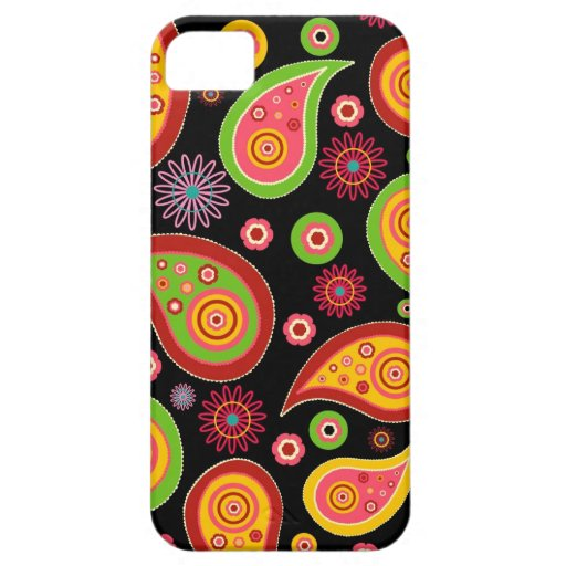 colourful cute paisley pattern fun background iPhone 5 cover