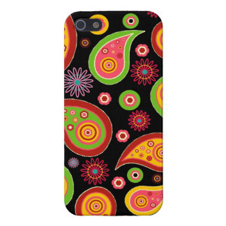 colourful cute paisley pattern fun background covers for iPhone 5