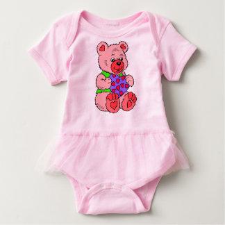 Colourful cute Teddy Bear Baby Bodysuit