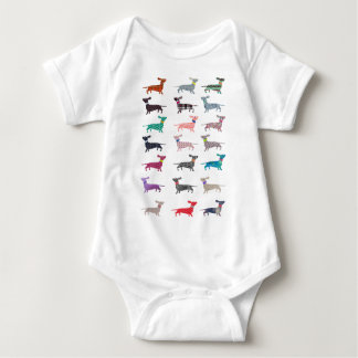 Colourful Dachshund! Baby Bodysuit