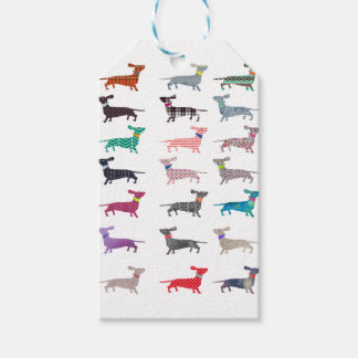 Colourful Dachshund! Gift Tags