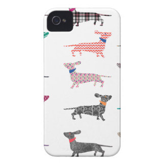 Colourful Dachshund! iPhone 4 Covers