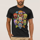 Colourful Day of the Dead Sugar Skulls Shirt