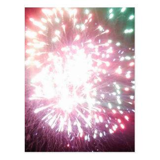 Colourful Dazzle fireworks postcard