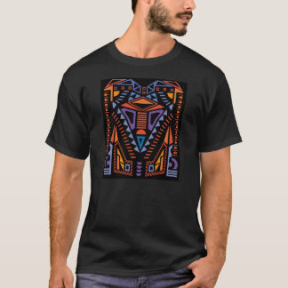 Colourful Design Black T-Shirt