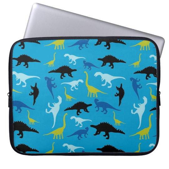 Colourful dinosaur pattern laptop sleeve