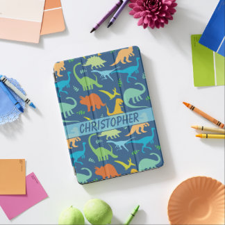 Colourful Dinosaurs Design to Personalise iPad Pro Cover