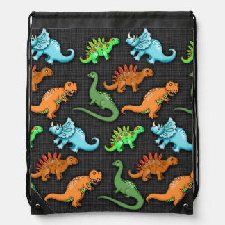 Colourful Dinosaurs Drawstring Backpack