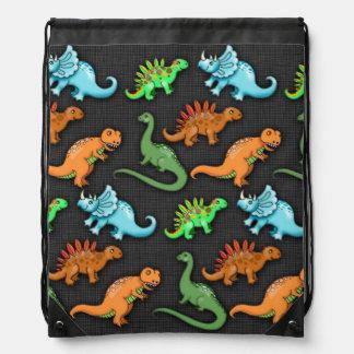 Colourful Dinosaurs Drawstring Bag