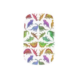 Colourful Dinosaurs Prehistoric Nail Art Wraps