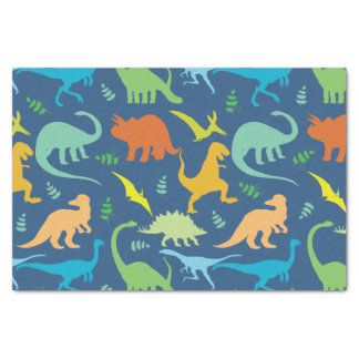 Colourful Dinosaurs Tissue Paper