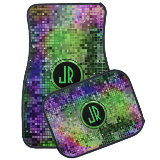 Colourful Disco Ball Glitter Pattern Car Mat