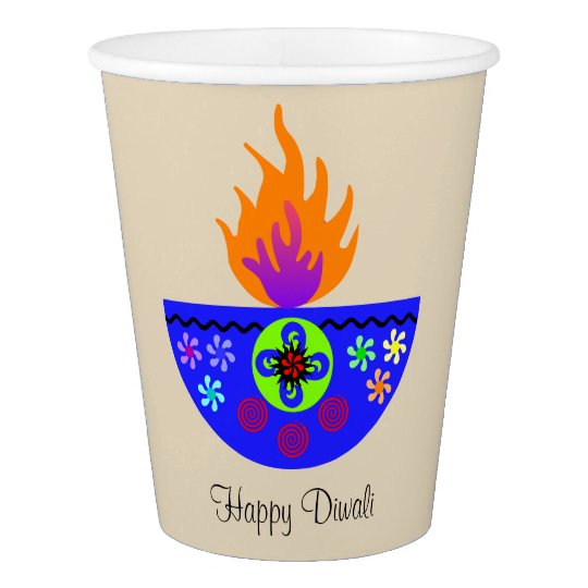 Colourful Diwali Lamp Diya Paper Cup