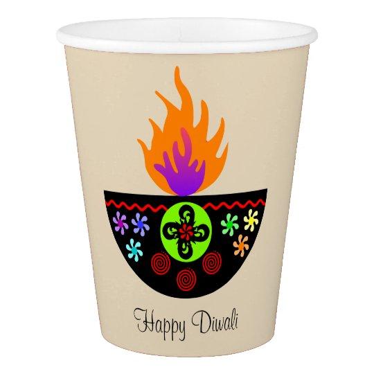 Colourful Diwali Lamp Diya Paper Cup