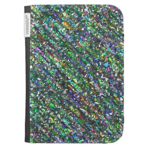 Colourful Doodle Patterns Kindle folio case