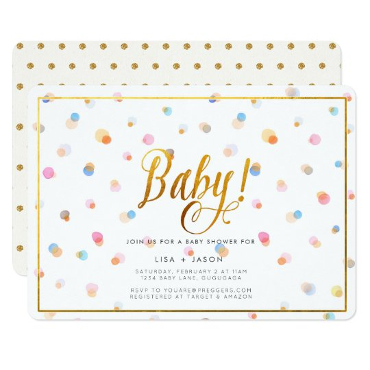 Colourful Dots Baby Shower Invitation