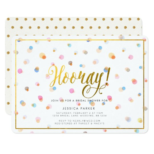 Colourful Dots Bridal Shower Invitation
