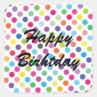 Colourful Dots - Happy Birthday Sticker
