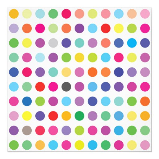 Colourful Dots - Kids Birthday Party Invitation